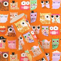 Gift wrapping paper featuring all the cute owls from our Hootsweet design. In a 3m roll from Paperchase.