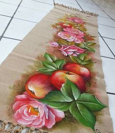 Fabric Painting, Stencils, Rugs, Pictures, Fabric Crafts, Painted Rug, Painting Carpet, Crochet Carpet, Fruit Painting