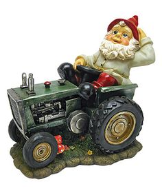 Another great find on #zulily! Plowing Pete on His Tractor Garden Gnome Statue #zulilyfinds
