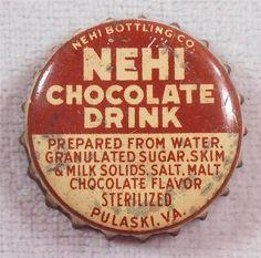 Vintage Soda Bottle Cap NEHI Chocolate Drink Pulaski VA | eBay