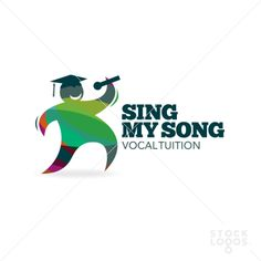 A fun colourful logo for anyone who does vocal tuition, more specifically if that tuition is graded or marked for educational purposes. The bright, whimsical nature of the design implies that the vocal tuition is fun and enjoyable, while the mortar board on the characters head tells the viewer that this is for educational purposes. $300. http://stocklogos.com/logo/sing-my-song-vocal-tuition    #vocal #tuition #education #teach