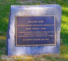 Ballard Park in Westport, New York - a gift from a longtime Summer resident.