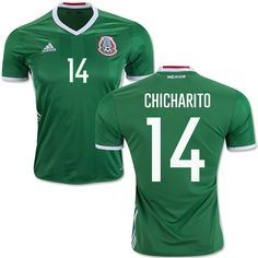 14a3a5cb2 2017 2018 mexico women soccer jersey home away 17 18 green chicharito  maillot 14 Mexico Javier Hernandez Mens Jersey - Authentic Green Home Short Shirt  2016 ...