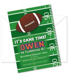 Custom Ohio State Football Birthday Party Invitations | Football ...