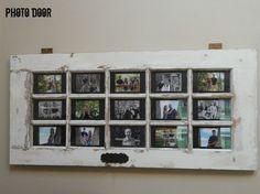 Hometalk :: Repurposed Door to Wall Photo Art