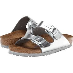 ca34f0a446c4 Arizona Soft Footbed (Silver Metallic Leather) Birkenstock Arizona