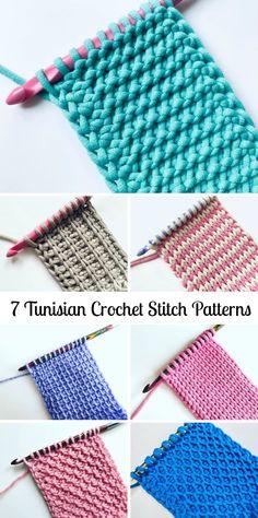 Tunisian Crochet Blanket, Tunisian Crochet Patterns, Crochet Stitches For Beginners, Crochet Motifs, Crochet Basics, Knitting Patterns, Beginner Crochet Blankets, Different Crochet Stitches, Honeycomb Stitch