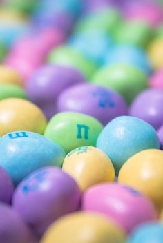 Pastel M&M's ~ For Easter.