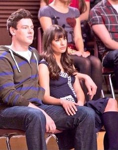 Cory and Lea. Aka Finn and Rachel
