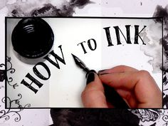 HOW to INK! - drawing tips! Awesome #youtube channel - check it out, you will learn a lot!