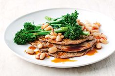 Minute steaks with broccolini & cannellini bean