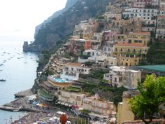 Town of Positano on the Amalfi Coast
