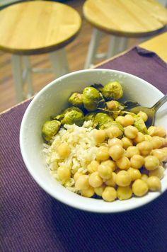 Vanishing Veggie: Arbonne Detox Day 1, Brussels Bowl