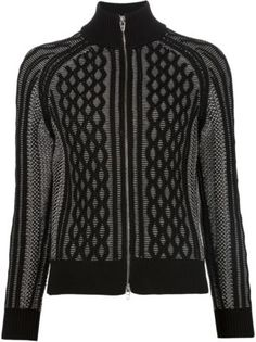 T By Alexander Wang cable knit honeycomb pattern cardigan