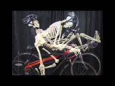 Just in time for Halloween, here's a skeleton explaining why he (or she?) prefers riding recumbent.