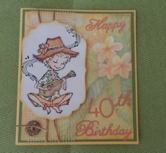 Ukulele Josh stamp by sparkle creations