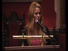 """""""The education promote peace and stability worldwide [...]. That our mission for global peace consisted of sending 30,000 educators to Afghanistan, not 30,000 soldiers."""" Shakiras Speech at Oxford Union"""