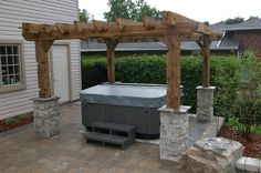Hot tub/Pergola - still would want 2 sides with privacy