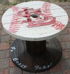 St. Louis Cardinals Wooden Cable Spool Table, Great For The Mancave Or Outdoor  Patio