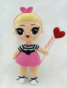 Crochet Dolls Free Patterns, Crochet Doll Pattern, Crochet Toys, Crochet Baby, Unicorn Pattern, Lol Dolls, Amigurumi Doll, Crochet Projects, Handmade