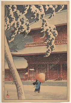 Shiba (No) Zojo-ji by Kawase Hasui 1883–1957 I love the art of Hasui. But especially the 'weather' ones!