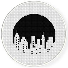 FREE for May 2016 Only – City Skyline Cross Stitch Pattern - City Skyline Cross Stitch Pattern Modern Cross Stitch, Cross Stitch Charts, Cross Stitch Designs, Cross Stitch Patterns, Learn Embroidery, Cross Stitch Embroidery, Cross Stitch Silhouette, Tapestry Crochet, Cross Stitching