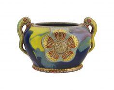 Zsolnay art nouveau bowl, Hungary, 1900