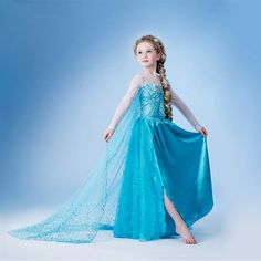 Girl Dress Cotton Elsa Summer Long Round Blue Elsa Dress Cartoon Party Dress 2015 Brand Girls Clothes Vestidos Infantis #>=#>=#>=#>=#> Click on the pin to check out discount price, color, size, shipping, etc. Save and like it!