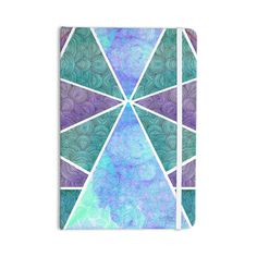 """Pom Graphic Design """"Reflective Pyramids"""" Teal Purple Everything Notebook"""