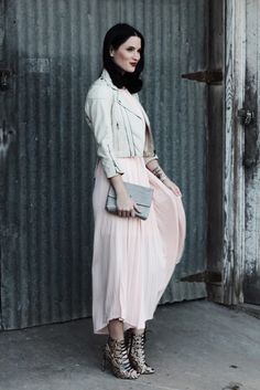 You can still rock blush pink and other pastels in the winter, trust me!