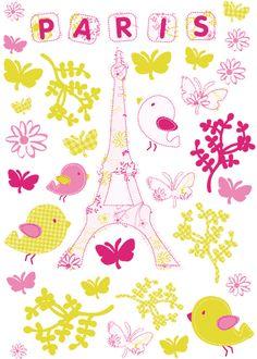 Commandez dès maintenant notre Tour Eiffel stickers - Ma jolie tour Eiffel - Autocollants muraux. Les Contemplatives - Spécialiste sur Internet pour tous vos achats de FANTAISISTES / enfants.