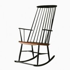 Superb Wooden Rocking Chair By Ilmari Tapiovaara For Pastoe Great Pictures