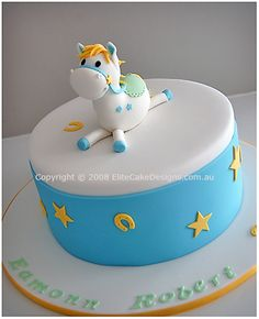 Horsy Christening Cake, Christening Cakes Sydney, Christening Cake Designs, Communion Cakes, Baptism Cakes, Baby Christening Cake, NSW