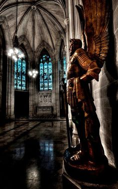 Talking of New York ~ in the farthest alcove of St. John's in New York...