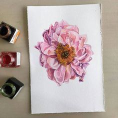 By @poli.bright.art. Tag #inspiring_watercolors for a chance to be featured. #watercolors #watercolor #watercolorpainting #aquarelle #painting #watercolorartist #art #artist #inspiration #beauty #beautiful #sketch #illustration #artwork #watercolour #watercolorsketch #flower #pink