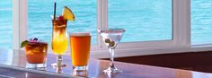 Barefoot Bar- Order a foo foo drink and a mango burger and enjoy the view with your best friends.