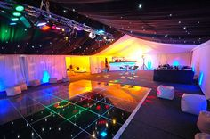 Mobile Nightclub Hire with Starcloth roof created for 18th Birthday Celebration by Capability Events