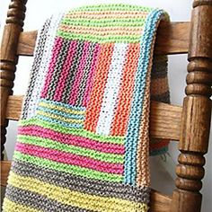 Easy Log Cabin Knitting! Grannycore Crazy Cabin Baby Blanket Knitting Pattern, $6.95 (http://www.nobleknits.com/grannycore-crazy-cabin-baby-blanket-knitting-pattern/)