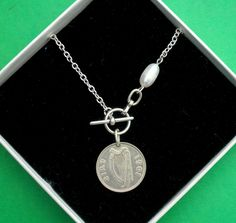 """★★★★★ """"Purchased this for my mother for her birthday. She absolutely loved it. Beautiful unique jewelry. And this seller was amazing getting it to me on such short notice the necklace was received in days . Highly recommend this shop."""" www.vintageirishdresser.etsy.com Celtic Circle, Irish Pride, 60th Anniversary, Pearl Beads, Etsy Vintage, Necklace Lengths, Pearls, Pendant, Birthday"""