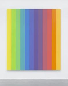 """Ellsworth Kelly, Spectrum IX, 2014, acrylic on canvas, twelve joined panels, 107 3/4 x 96""""."""