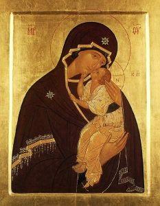 Icon of the Tender Mercy Mother of God of Yaroslavl - Theotokos Eleusa |