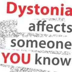 Dystonia. Spread the word and support the ones you love!