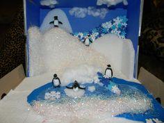 Examples of Habitat Dioramas   Shabby Kitteh: School Project. Penguin Ecosystem