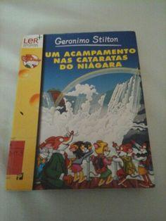 """Este é o livro n.°42 do Geronimo Stilton de seu nome """"Um acampamento  nad Cascatas do Niágara""""."""