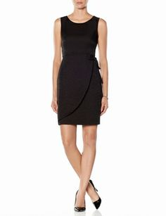Shimmery Faux Wrap Side Tie Dress from THELIMITED.com