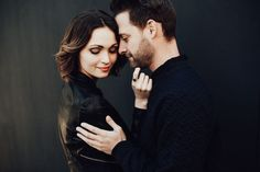 Engagement Photos This Oklahoma City Engagement Shows Off the Couple's Killer Closets - This Oklahoma City engagement session features incredibly cool outfits and modern, urban backdrops that complement them perfectly.
