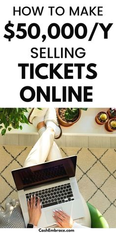 How to make money selling tickets online in your spare time: earn an extra online income of $50,000/year with this side hustle. You can even turn it into a profitable online business. This money-making idea is the perfect online job for stay-at-home moms and college students. Make money from home selling tickets online in your spare time!#makemoneysellingticketsonline#makemoneyonline#onlinejobs#startanonlinebusiness#onlineincome#sidehustleideas Make Money Today, Make Money From Home, Make Money Blogging, Way To Make Money, How To Make, Stay At Home Mom, Online Income, Online Jobs, Earn Money Online