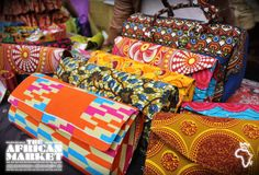 Fashion and accessories at the African market in Old Spitalfields, London #bags #shopping #colourful