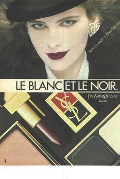 Vintage Meets Modern: A Classic Lifestyle New Look Ideas Vintage Makeup Ads, Retro Makeup, Old Makeup, Vintage Ysl, Vintage Trends, Vintage Beauty, Vintage Ideas, Yves Saint Laurent Beauté, 1980s Makeup