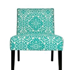 Teal and White Lounge Chair